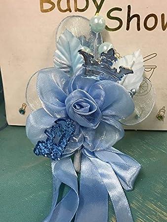 Baby Boy Royal Prince Blue Baby Shower Corsage Favor Keepsake Royal Party  Supplies