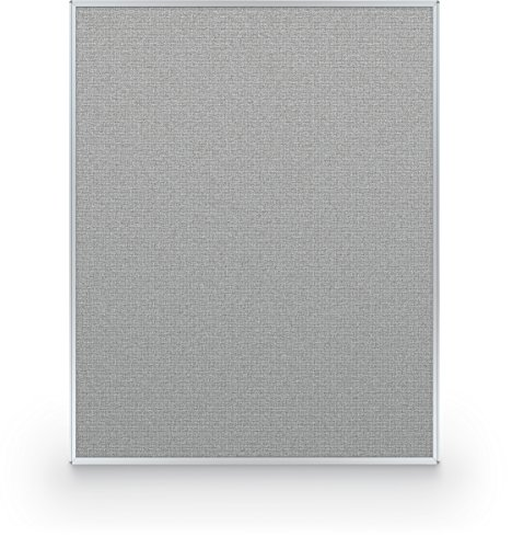 Fabric Partition Panel Straight - Best-Rite 60 x 48 Inch Standard Modular Divider Panel, Gray Fabric Panel, (66216-88)