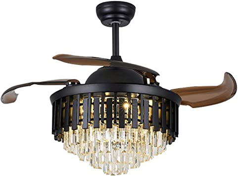 42 Inch Retractable Ceiling Fan Light Remote for Bedroom Farmhouse Dining Room