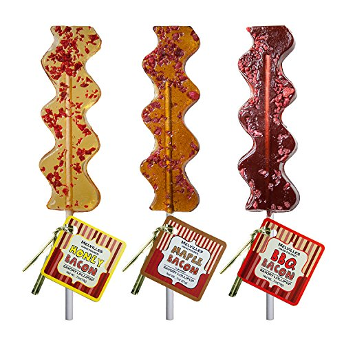 - Bacon Hard Candy Lollipop Assorted Maple, Bbq,Honey