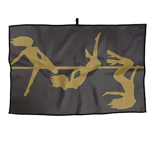 HenSLK Steel Pipe Dancer Grid Microfiber Cooling Golf Towel Light Weight & Quick Drying & Super Absorbent Sport Travel Towel for ()
