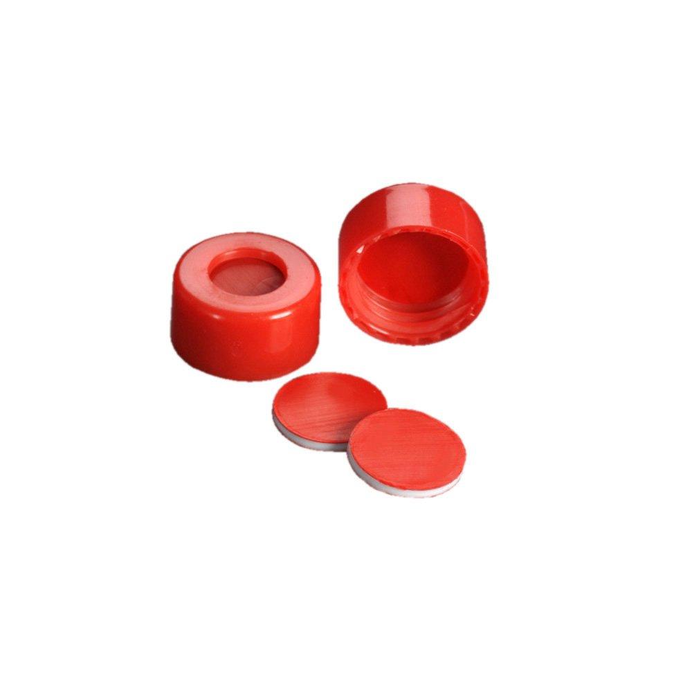 Rouge Bo/îte de 100 MicroLiter 09-0040R Bouchon 9 mm en PTFE//Silicone//PTFE