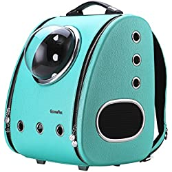 CLOVERPET C0103 Innovative Fashion Bubble Pet Travel Carrier Backpack for Cats Dogs Puppy, Blue