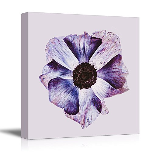 Square Watercolor Style Purple Flower Petal