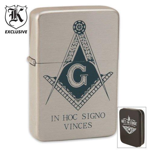 BudK Masonic Get The Edge Lighter, Outdoor Stuffs