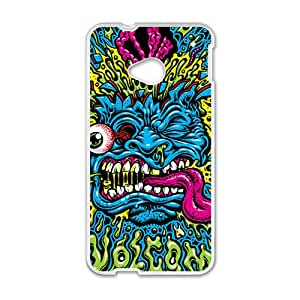 Blue Monster Greative White Phone Case for HTC M7