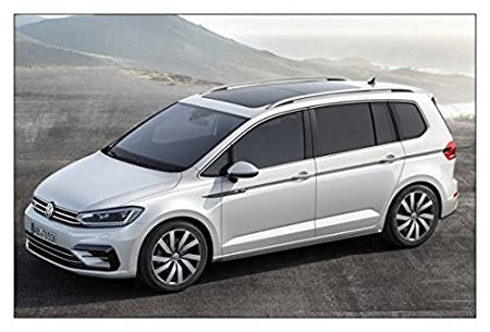 BARRAS PORTAEQUIPAJES VIVA CAMBIADOR COCHE PARA Volkswagen TOURAN 2 EST/ÁNDAR A PARTIR DE 2003 negro