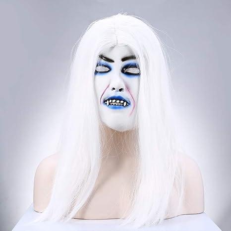 WENHAODJ Máscara de Halloween Coco Horrible Horrible Espeluznante ...