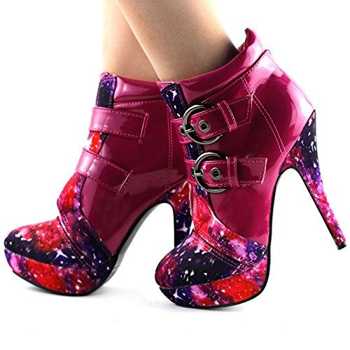 Alto Cielo Notturno Punk Tacco Stiletto Della Mostrare Del Fibbia Lf30301 Caviglia Della Piattaforma Caldo Storia Rosa wCqgtpI0