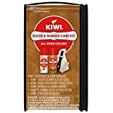 KIWI Suede and Nubuck Shoe Cleaner Kit | For Shoes, Boots, and More | Includes Cleaner, Protector, Brush, Cloth, Eraser Block