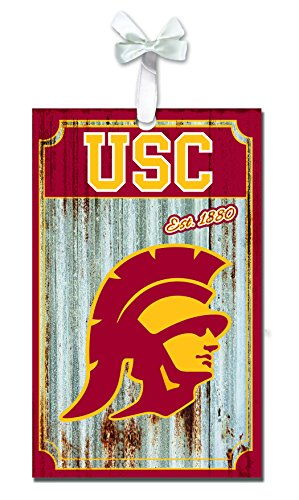 Team Sports America USC Trojans Corrugated Metal Ornament