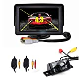 """CISNO 4.3"""" LCD Car Rear View Monitor+Wireless Reverse 7 Led IR Night Vision Waterproof Licence Plate Camera Kit"""