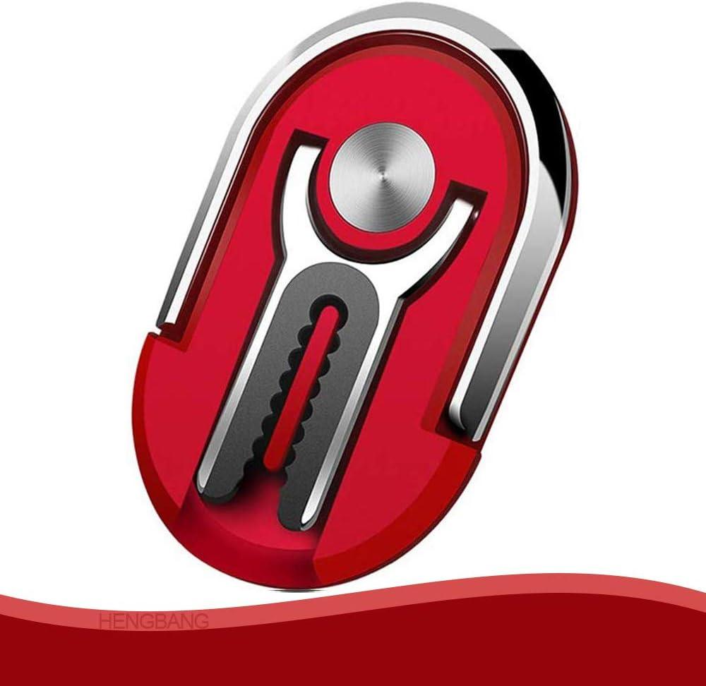 Stand 360 Degree Rotation Phone Ring Holder for Car Home HENGBANG Silver Multipurpose Mobile Phone Bracket