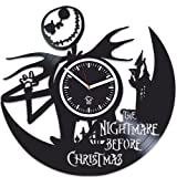 Nightmare Before Christmas Clock, Sally Jack, Vinyl Wall Clock, Handmade Gift, Best Gift For Girl Boy, Vinyl Record Clock, Kovides, Silent, Wall Clock Modern, Birthday Gift For Kids Review