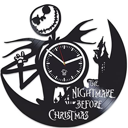 nightmare before christmas clock sally jack vinyl wall clock handmade gift best