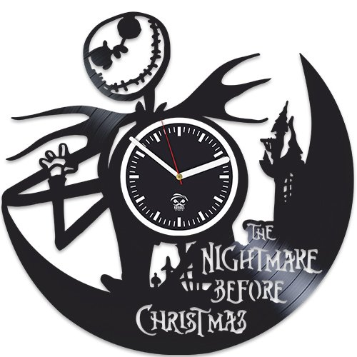 Nightmare Before Christmas Clock, Sally Jack, Vinyl Wall Clock, Handmade Gift, Best Gift For Girl Boy, Vinyl Record Clock, Kovides, Silent, Wall Clock Modern, Birthday Gift For Kids