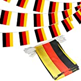 Anley Federal Republic of Germany String Pennant Banners, Patriotic Events 3rd of October German Unity Day Decoration Sports Bars - 33 Feet 38 Flags