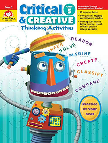 Evan-Moor Critical and Creative Thinking Activities Teacher's Book, Grade 5 ()