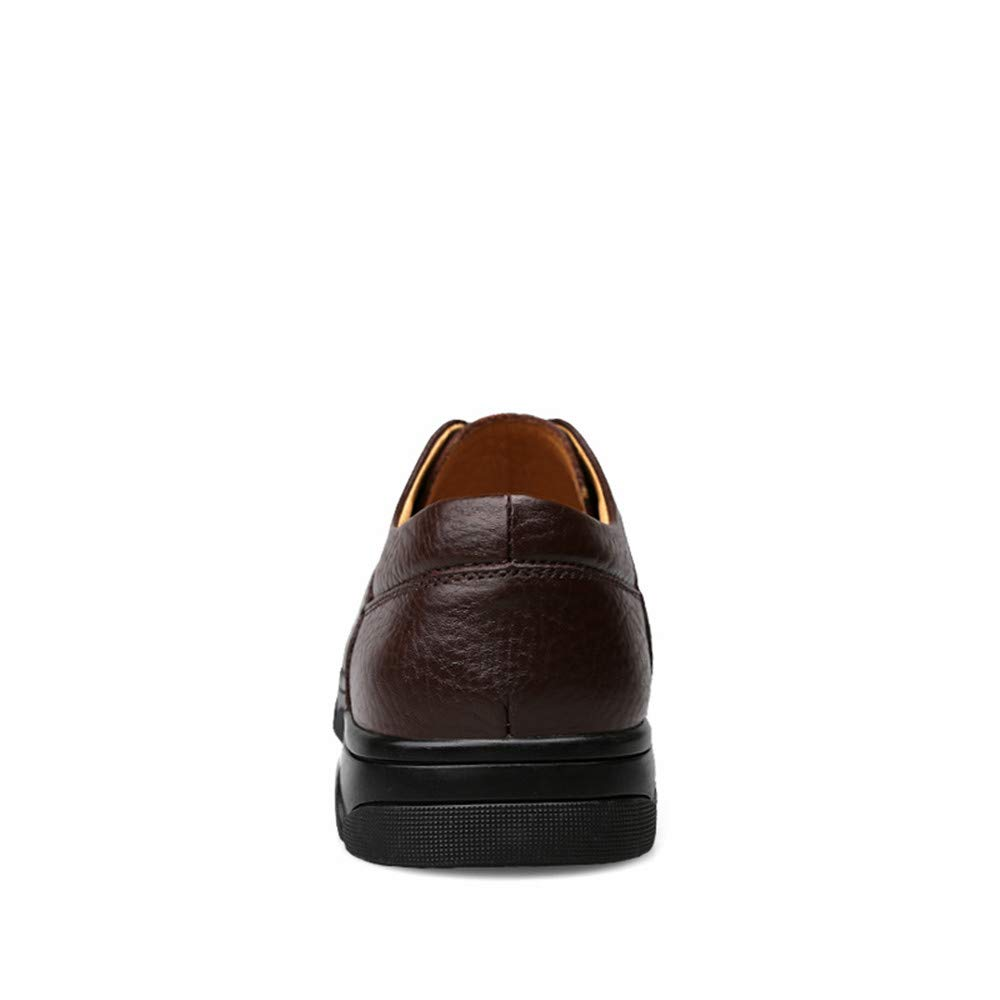 XHD-Schuhe Männer persönlichkeit Mode Oxford Oxford Oxford Lässig Komfortable Atmungsaktive Spitze Leder Flache Ferse Formelle Schuhe (Farbe   Braun, Größe   37 EU) 4a8c14