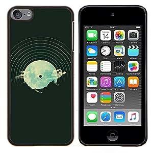 Caucho caso de Shell duro de la cubierta de accesorios de protección BY RAYDREAMMM - Apple iPod Touch 6 6th Touch6 - Dj Música Disco Vinilo Vignette Hipster