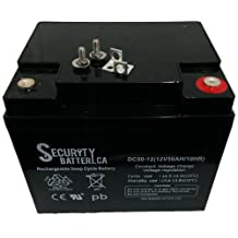 Security Brand Or Similar Replacement For Bosfa GB12-50 12V 50Ah T17 Terminals Sealed Lead Acid Battery - VRLA Battery