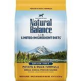 Natural Balance L.I.D. Limited Ingredient Diets Dry Dog Food, Grain Free, Potato & Duck Formula, 4.5-Pound