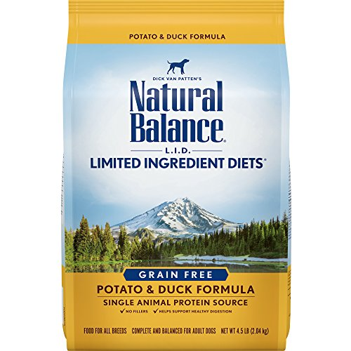 Natural Balance L.I.D. Limited Ingredient Diets Dry Dog Food, Grain Free, Potato & Duck Formula, 4.5-Pound