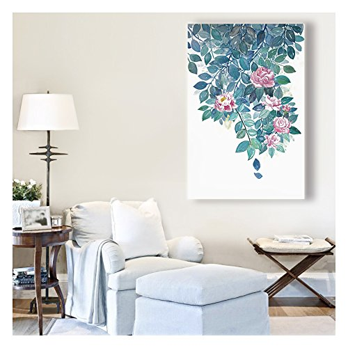 Chinese Flowering crabapple Watercolor Painting Style Art Reproduction