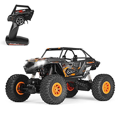10 Electric 4wd Truck (Geekper Remote Control Car - Terrain RC Cars - Electric Remote Control Off Road Monster Truck - 1:10 Scale 2.4Ghz Radio 4WD Fast RC Car -  with 1 Rechargeable Batteries)