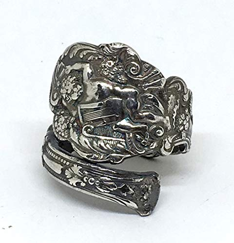 Sterling Silver Cupid Upcycled Antique Spoon Ring