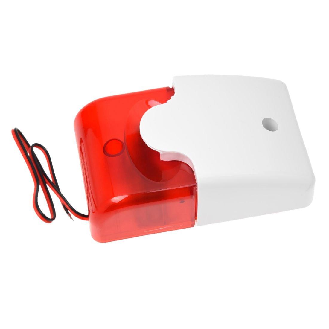 SODIAL(R) Mini 12 Voltios de Alarma de seguridad Sirena de reemplazo de luz roja