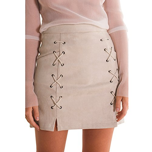 Double Button Front Skirt - 3