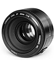 Yongnuo YN50mm F/1.8 Lens Large Aperture AF Lens in Black for Canon EOS Rebel Digital Camera+INSEESI Clean Cloth