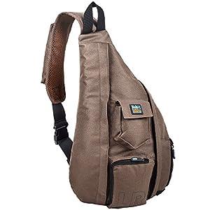 Sling Bag Crossbody & Over Shoulder - Spacious Sling Pack – Women & Men Compact Sling Backpack Brown - Best Organizer for Study, Sport, Travel, Camping, Walking, Hiking