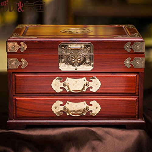 Brass Mahogany Dresser - 7