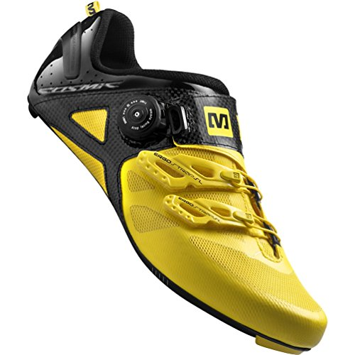Mavic 2015 Men's Cosmic Ultimate Road Bike Cycling Shoes - 367298 (Yellow Mavic/Black - (Mavic Cosmic Carbone Ultimate)