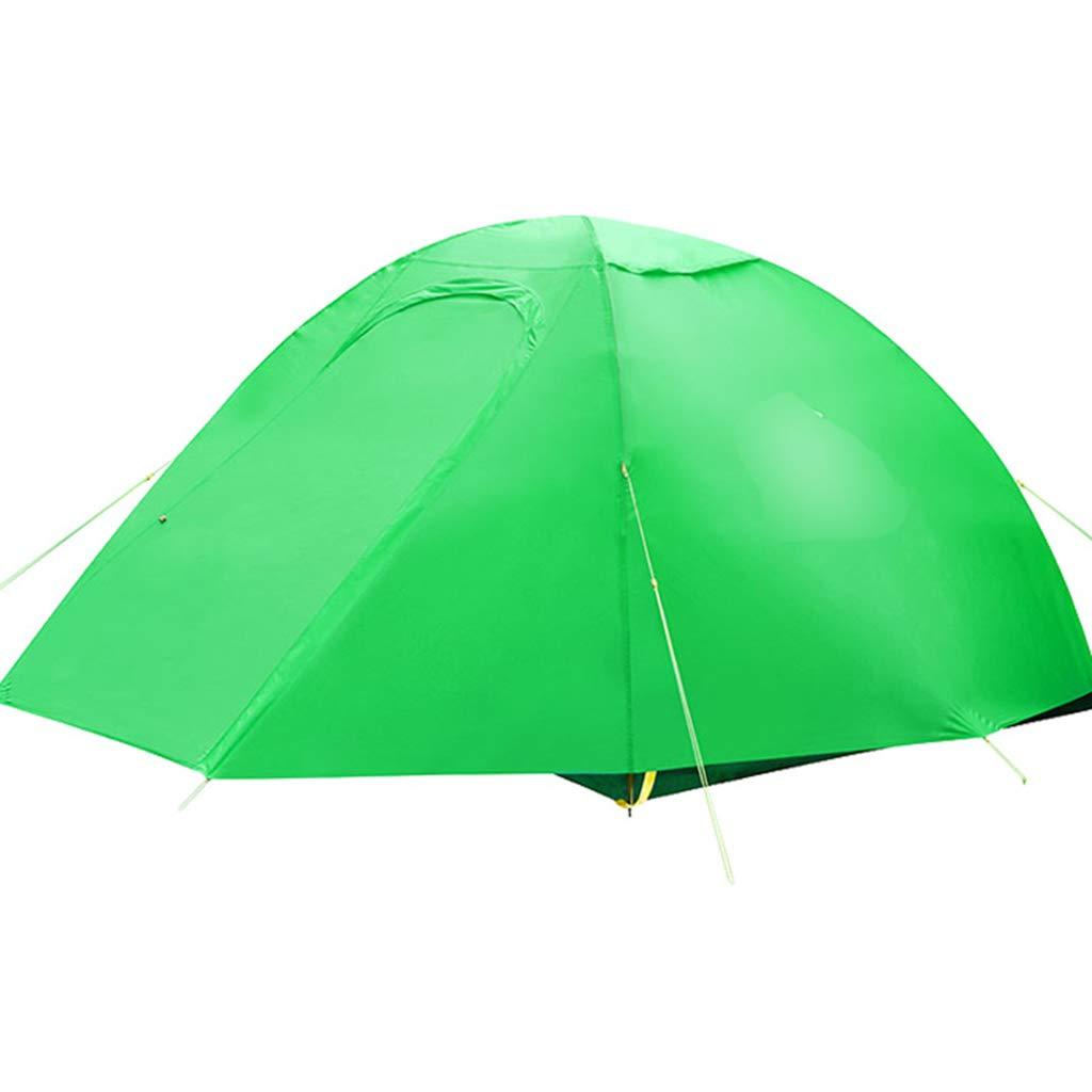 YaNanHome Imprägniern Zelt des Zeltes des Zeltes des Zeltes im Freien Zeltzelt des Zeltpaares mit 1-2 Leuten (Farbe : Grün, Größe : 210  140  110cm)