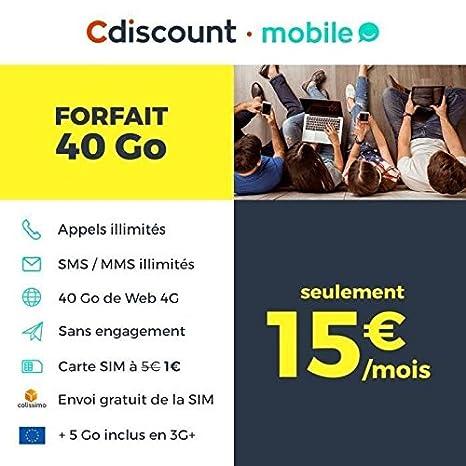 Carte Cdiscount Mobile.Carte Sim Cdiscount Mobile Amazon Fr High Tech