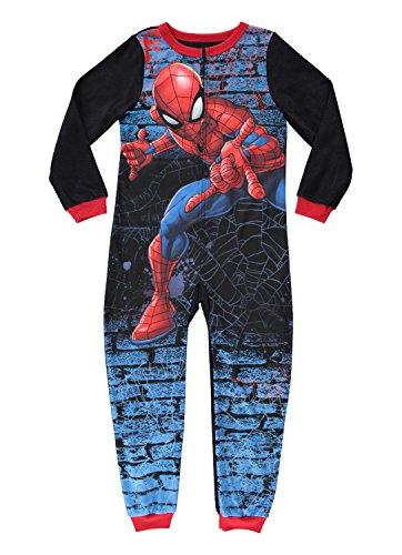 Spider-Man Boys Character Blanket Sleeper | Zippered Onesie Pajama - 4 (Flannel Man Spider)