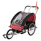 Dual Purpose Bicycle Carrier Baby Bike Trailer Jogger Stroller Cart With Bag