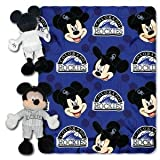 MLB Colorado Rockies Pitch Crazy Co-Branded Disney's Mickey Hugger and Fleece Throw Set