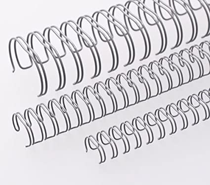 Renz One Pitch Drahtkamm-Bindeelemente in 2:1 Teilung blau Durchmesser 6.9 mm 23 Schlaufen 1//4 Zoll
