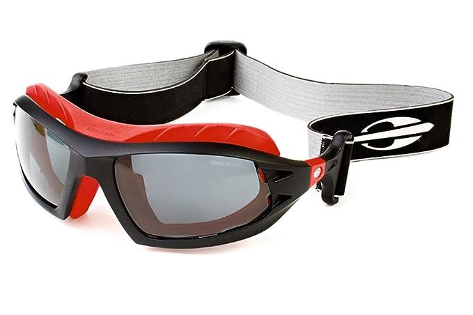 MORMAII Gafa de sol Floater Negro y rojo polarizado con astas intercambiables con neopreno