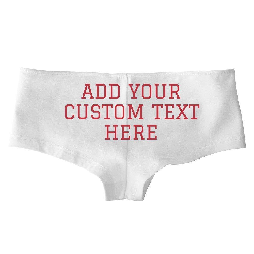Low-Rise Cheeky Underwear Custom Text Ladies Underwear