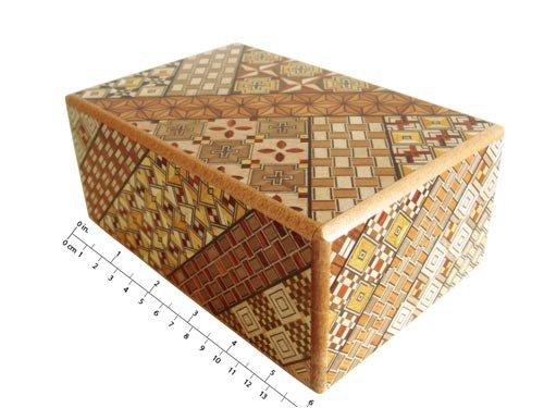 Japanese Yosegi Puzzle Box 5 Sun 10 Moves -