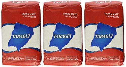 Yerba Mate Taragui - 3 bags of 2.2 Lbs each (Taragui Mate Yerba)