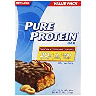 Pure Protein Bars, Healthy Snacks to Support Energy, Chocolate Peanut Caramel, 1.76 oz, 6 Count