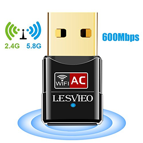 USB Wifi Adapter, LESVIEO 600Mbps Wireless Network Adapter W