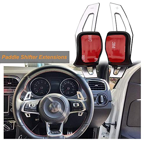 (Steering Wheel DSG Paddle Shifter Extensions Aluminum For VW MK5 MK6 GTI)