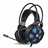 Gaming Headset Noise-Cancelling 3.5mm Compatible with Computer Smartphone PC PS4 Switch iPad (Xbox One Elite Controllers)